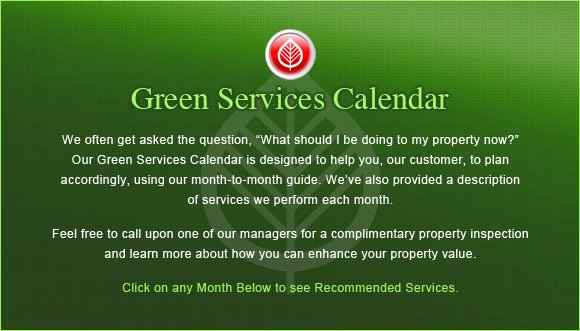 Green Services Landing Page