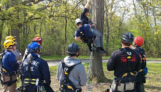 Arborist rescue methods clinic by Kinnucan.